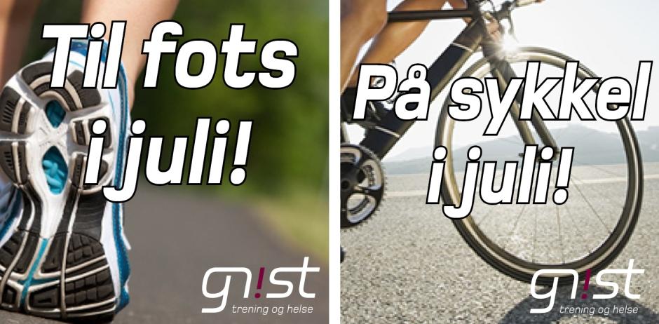 fots og sykkel juli
